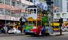 Colourful trams of Hong Kong. (Bernard Spragg) Tags: trams cityscapes hongkong transport asia lumix street urban rail downtown