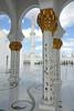 Sheik Zayed Grand Mosque (geneward2) Tags: sheik zayed mosque abu dhabi uae islam worship religion pillars columns white gold