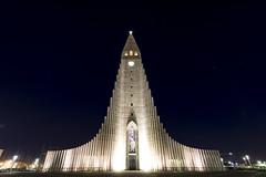 Hallgrímskirkja (HellAir) Tags: 2017 hallgrímskirkja iceland islande reykjavík church mars night winter
