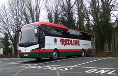 REDLINE TRAVEL (Hesterjenna Photography) Tags: redline preston lancashire lancs bj16red bus psv coach jonckheere volvo transport travel lancaster
