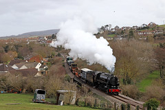 S160 6046 - Watchet (Andrew Edkins) Tags: s160 6046 usatc freighttrain goodstrain watchet westsomersetrailway preservedrailway somerset canon light landscape steamgala steamtrain march 2018 spring afternoon geotagged overcast sky horsebox