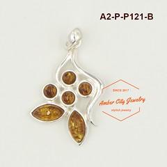 A2-P-P121-B (ACJ歐風小舖 - Amber City Jewelry) Tags: acj歐風小鋪 ambercityjewelry 波羅的海琥珀 925純銀 amber 925sterlingsilver 歐風 銀飾 墜飾 波蘭 圖騰