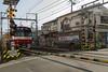 railway crossing (kasa51) Tags: railway crossing train building sign keikyuline yokohama japan 京浜急行