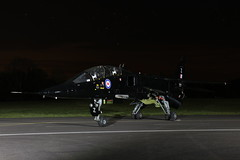 Jaguar at night (Andrew Edkins) Tags: black jaguar night rafcosford thresholdaero photoshoot shropshire england uk airframe spring march 2018 jet speed pan runway canon geotagged aviaition stars evening light