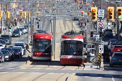 2018 03 04_6312 (djp3000) Tags: canoneosrebelt3i ef75300mmf456 streetcar tram transit stclairwest publictransport publictransit flexity ttc512 ttc 4405 4430 ttc4405 ttc4430 toronto poles trafficlights roadsigns signs