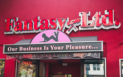 not supposed to mix (n.a.) Tags: business pleasure sex shop adult pink sign seattle wa us fantasy ltd unlimited 2027 open neon