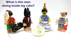 What is this man doing inside my cake? (WhiteFang (Eurobricks)) Tags: lego collectable minifigures series city town space castle medieval ancient god myth minifig distribution ninja history cmfs sports hobby medical animal pet occupation costume pirates maiden batman licensed dance disco service food hospital child children knights battle farm hero paris sparta historic brick kingdom party birthday fantasy dragon fabuland circus