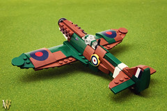 Lego Spitfire (Dread Pirate Wesley) Tags: lego spitfire supermarine mki battle britain british aviation airplane fighter world war ii ww2 wwii channel luftwaffe raf merlin