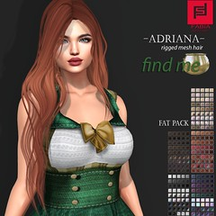 -FABIA- Mesh Hair   < Adriana> (FABIA.HAIR) Tags: hunt patrick hair rigged moda woman beauty look piktures fabia nice meef head special second sl secondlife sweet fashion hairstyle life lovely avatar spam style shopping new release best love everyday art