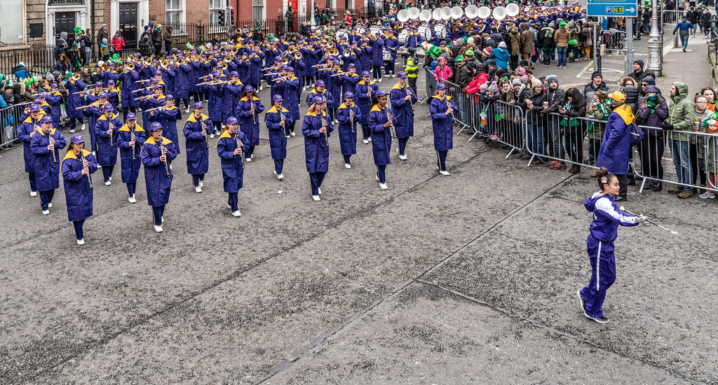 Jackson High School - Purple Army Marching Band [Dublin Patricks Day Parade 2018]-137631