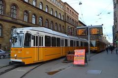 BKV Zrt 1326 & 1582 (Will Swain) Tags: blaha lujza tér budapest 4th january 2018 tram trams light rail railway rails transport travel europe hungary east eastern county country central capital city centre bkv zrt 1326 1582