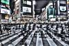 Shibuya Crossing (ok_ntm) Tags: hdr japan tokyo shibuya crossing architecture city outdoor