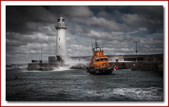 Hero's of the Sea (Deek Wilson) Tags: rnli lifeboat lighthouse donaghadee roughsea seascape water storm wave harbour northernireland hero