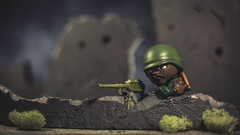 Checking for Movement (3rd-Rate Photography) Tags: roadblock gijoe marvinfhinton arealamericanhero actionfigure toyphotography toy vinyl theloyalsubjects blindbox canon 50mm 5dmarkiii jacksonville florida 3rdratephotography earlware 365