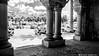 2517 Ayuntamiento de Ciutadella, Menorca (Ricard Gabarrús) Tags: columnas porche sombras ayuntamiento blancoynegro ricardgabarrus trafico ricgaba olympus