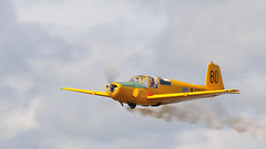 SAAB 91 (Arndted) Tags: saab91safir saab91 saab saabinthesky safir sk50 team50 eksjöflygdag2017 eksjöflygdag eksjö aircraft airshow airplane aviation sweden sverige flygplan flying smoke clouds sky nikon d300s sigma ex100300f4