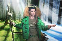 Cabbot Clark Lover Boy as March (ArLekin26113) Tags: cabbotclark industry stylelab loverboy convention2017 integrity integritytoys fashionroyalty fashiondoll fashionfairytale march spring greenery snow snowflake wreath