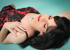 Cherry Dress 3 (Hannah McKnight) Tags: grinkie hannah minneapolis minnesota vintage beautiful best boudoir fun pinup retro top tgirl transgender transgirl model crossdress crossdresser stilettos