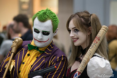 69/365 2018 Joker & Harley Quinn (crezzy1976) Tags: nikon d3300 nikkor55300mm crezzy1976 photographybyneilcresswell photoaday joker harleyquinn cosplay costume dressup liverpoolcomiccon 365 365challenge2018 day69 liverpool fantasy batman
