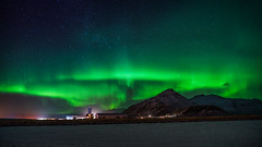 Night Lights (Clint Everett) Tags: sky mountains night winter iceland northernlights aurora auroraborealis astrophotography stars landscape