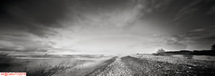 Lake Huron gravel bank.. (DelioTO) Tags: 6x17 120 beaches canada d23 f317 historical holiday lake sept2017 landscape ontario panoramic rain rpx100 rural trails