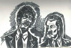 Pulp Fiction (TJ BUll) Tags: illustration drawing art promarkers drink bar character design artist pulp fiction fan ink