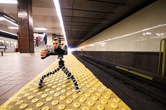 Don't Forget Your Metropass! (unDaily Power) Tags: photoshop photomanipulation photoshopped edited manipulated conceptualphotography conceptual conceptphotography conceptualphoto ttc metropass toronto ontario canada subway tube underground train kiplingstation subwaystation