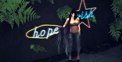 Neon Jungle (Avery der Rabe) Tags: wish hope neon jungle moon mooh pacagaia ferns cranked theflow blog secondlife hardship love boho street