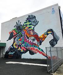 Eternal Samurai by Tristan Eaton (wiredforlego) Tags: graffiti mural streetart urbanart aerosolart publicart hawaii oahu honolulu powwowhawaii powwow tristaneaton
