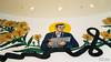 In remembrance of His Majesty King Bhumibol Adulyadej (D. R. Hill Photography) Tags: bangkok thailand asia southeastasia mural art bangkokartandculturecentre culture remembrance nikon nikonfe2 fe2 fuji fujifilm fujisuperia200 superia 35mmfilm 135 voigtlander voigtlandercolorskopar28mmf28 colorskopar cosina primelens fixedfocallength manualfocus wideangle