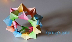 The gate of spring (Mark Lch) Tags: origami modular david mitchell electra