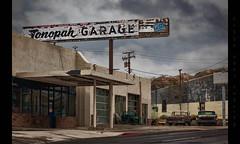 Tonopah Garage (Whitney Lake) Tags: rust decay derelict mechanic garage nevada tonopah automobiles junk cars classic antique vintage closed abandoned