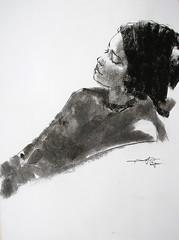 P1017879 (Gasheh) Tags: art painting drawing sketch portrait girl line pen charcoal gasheh 2018