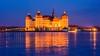 ❄️ Blue hour at frozen Moritzburg castle ❄️ (derliebewolf) Tags: moritzburg lake castle sunset bluehour winter ice frozenlake frozen light architechture germany sigma d800 reflection flare view classic clouds longexposure hss sliderssunday