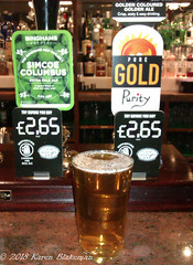 March 6th, 2017 Today's Tipple - Pure Gold from the Purity Brewing Company (karenblakeman) Tags: baroncadogan pub caversham uk beer ale puregold puritybrewingcompany binghams simcoecolumbus march 2018 2018pad reading berkshire