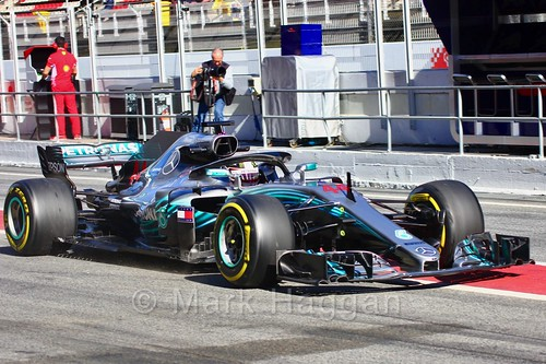Lewis Hamilton during Formula One Winter Testing 2018