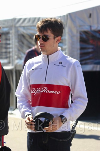 Charles Leclerc during Formula One Winter Testing 2018