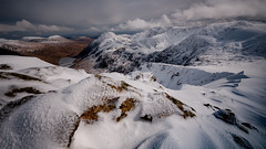 Climb every mountain ... (Einir Wyn Leigh) Tags: landscape mountains snow spring outside walking wales cymru nikon sky pleasure love