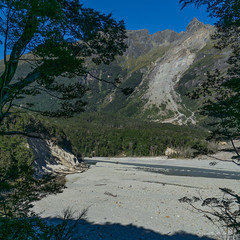 Lower landslip on Dart River (NettyA) Tags: 2018 dartriver day6 mtaspiringnationalpark nz newzealand reesdartcircuit southisland tramp tramping landslip