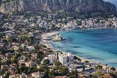 Mondello (ilsiciliano_) Tags: mondello landscape italia sea sky sicilia mare national geographic nat geo canon nature white blue yellow