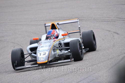 Ayrton Simmons in British F4 pre-season testing 2018