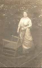 Not ready for the rocking chair (912greens) Tags: women real folksidontknow dresses rockingchairs backyards portraits