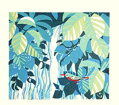 Common kingfisher (Japanese Flower and Bird Art) Tags: bird common kingfisher alcedo atthis alcedinidae shuzo ikeda modern woodblock print japan japanese art readercollection