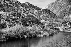 2017 Rio Grande In Monochrome (DrLensCap) Tags: us highway 68 south taos new mexico rio grande in monochrome nm bw black white and river robert kramer