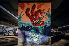 The hand that eats (Melissa Maples) Tags: münchen munich deutschland germany europe nikon d3300 ニコン 尼康 sigma hsm 1020mm f456 1020mmf456 winter graffiti streetart art streetartgallery donnersbergerbrücke