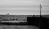 MAR_1813_00001_B&W&Col (Roy Curtis, Cornwall) Tags: uk cornwall porthleven the pier silhouette seaside sea coast