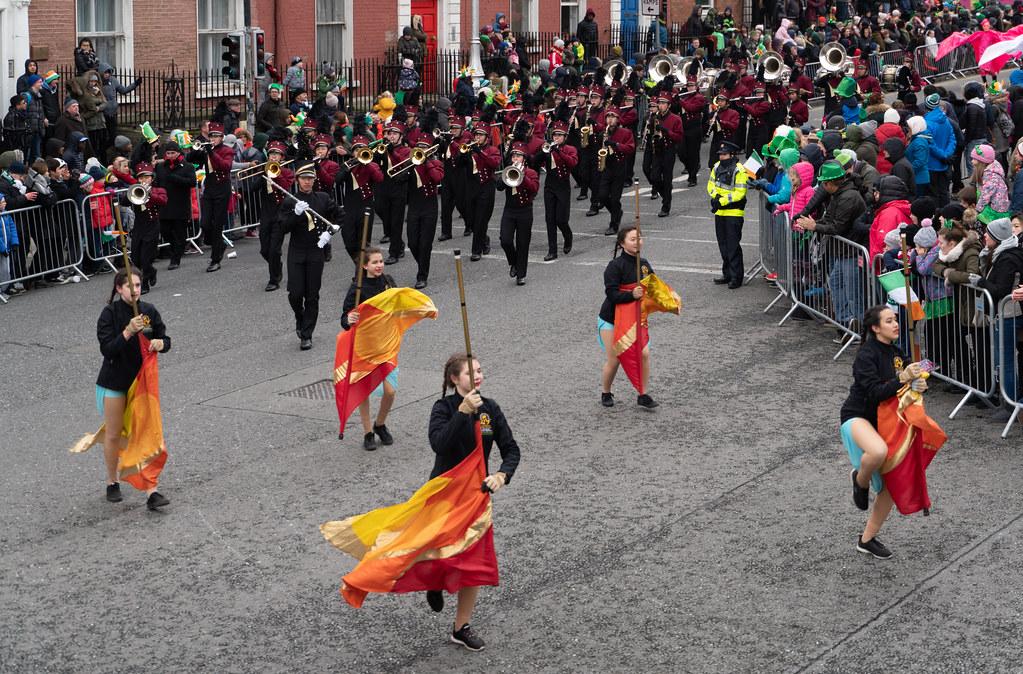 La Cañada High School Marching Spartans[ Patricks Day Parade In Dublin 2018]-137610