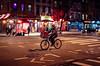 New York (KennardP) Tags: bicycle manhattan newyorkcity nyc canon5dmarkiv 5dmarkiv sigma50mmf14dghsmart sigmaartlens canon sigma cityatnight citylights nightlights nightphotography handheldnight delivery store restaurant people road cars