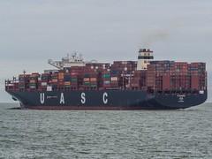 UASC Al Murabba 03 (U. Heinze) Tags: cuxhaven containerschiff container vessel ship schiff nordsee elbe olympus wasser