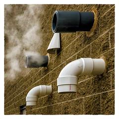 Vented (Timothy Valentine) Tags: large vent pipe stone wall 0318 2018 brockton massachusetts unitedstates us